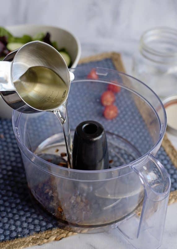 Making Vidalia Honey Vinaigrette
