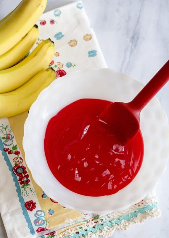 Bananas in Red Stuff