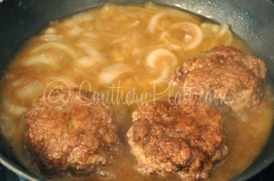 Hamburger Steaks and onions Southern Plate