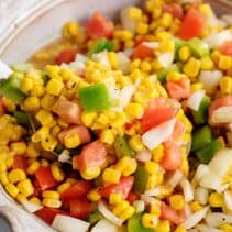 Serving Summer Corn Salad