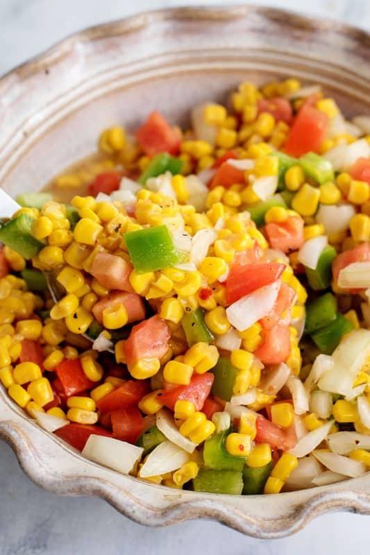 Serving Summer Corn Salad