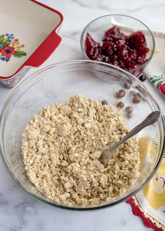 Cranberry Crunch Topping