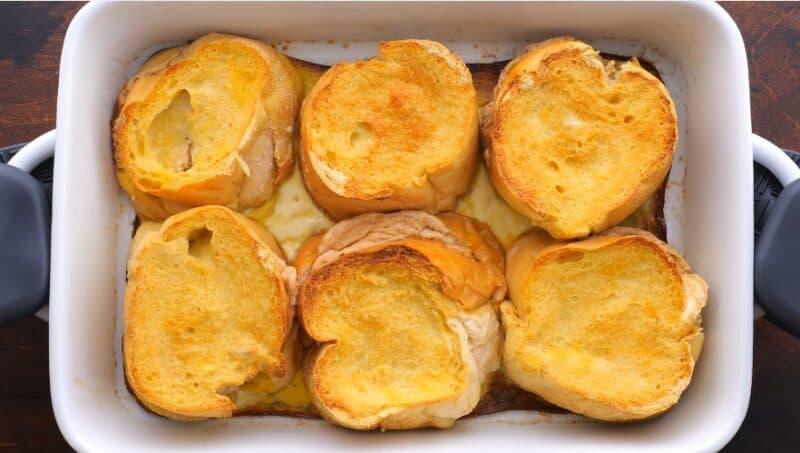 bake at 350 for 30-40 mins until golden brown