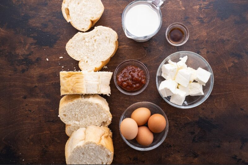 ingredients stuffed french toast recipe