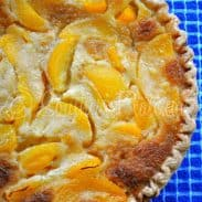 Buttermilk Peach Pie – and Flying on Bicycles