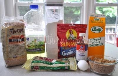 From Scratch Bran Muffin Ingredients