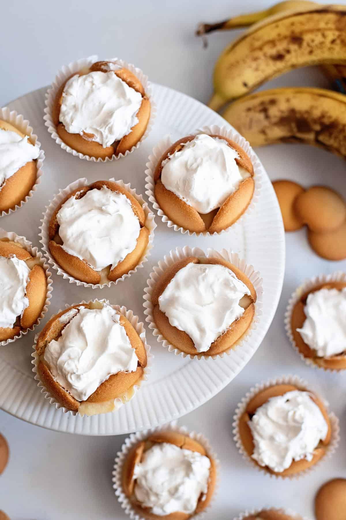Frozen banana pudding cups