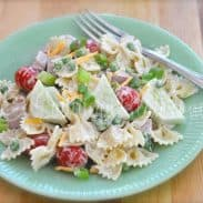 Smoked Ham & Veggies Pasta Salad