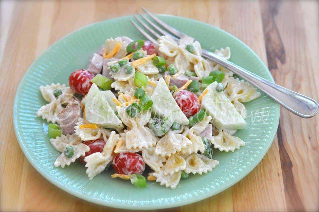 Smoked Ham Veggies Pasta Salad Southern Plate