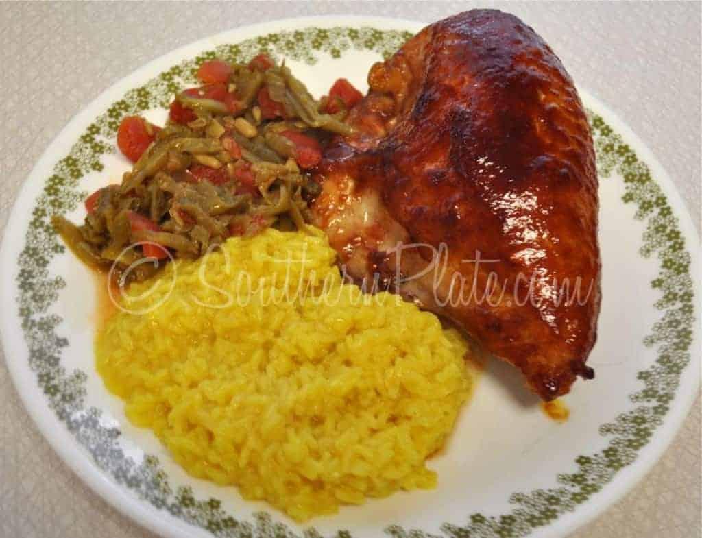 Sticky Chicken Southern Plate