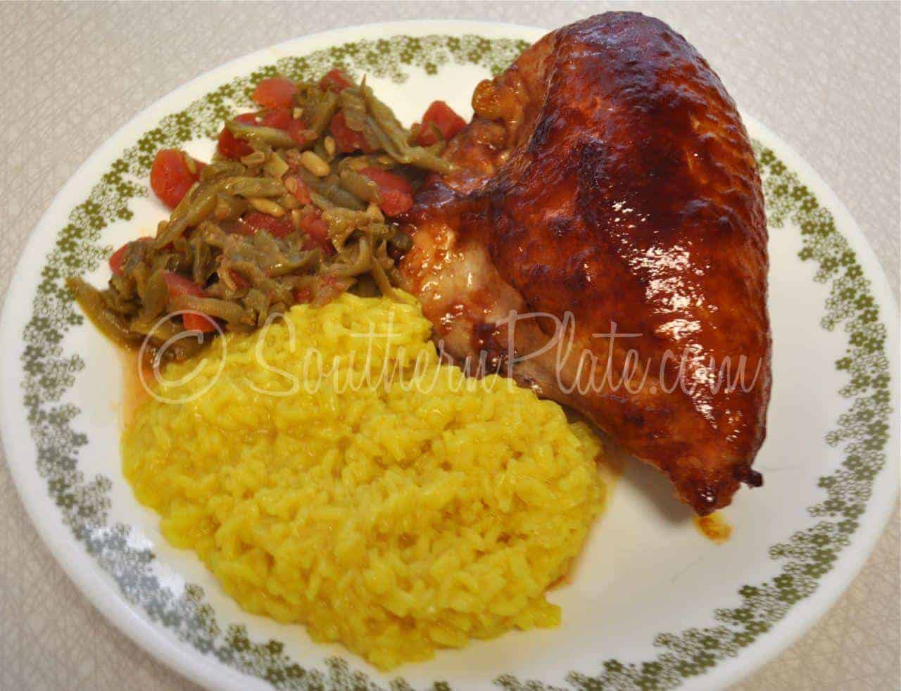 Sticky chicken southern plate this forumfinder Gallery