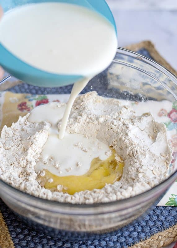 Preparing AnyTime, Any Kind Oatmeal Muffins Batter