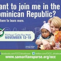 Win a trip to the Dominican Republic with Christy Jordan and Operation Christmas Child to HAND DELIVER your shoebox!
