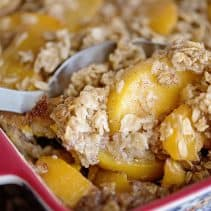 BAked Peach Oatmeal Pudding