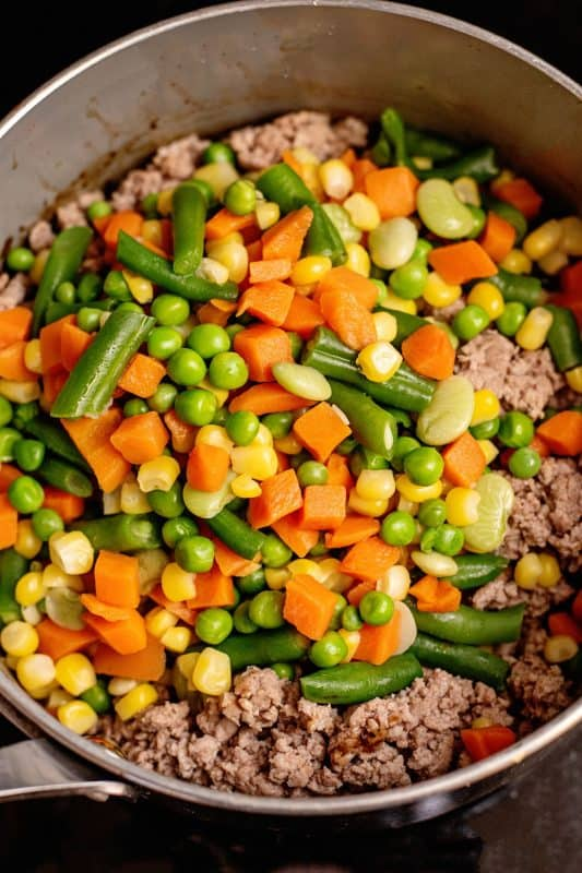 veggies and beef shepherd's pie
