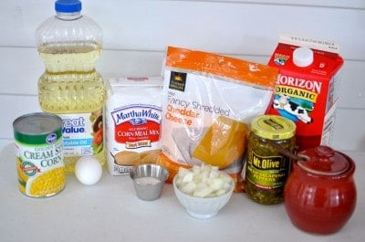 Mexican Cornbread Ingredients