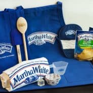 Martha White Goodie Basket featuring Grocery Bag, Apron, T-shirt, Kitchen Utensils, an assortment of mixes, and more!