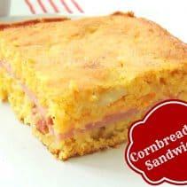 Cornbread Pan Sandwichesfancy