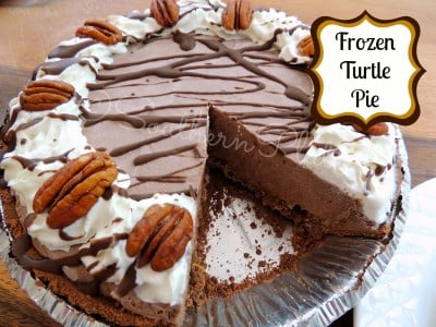 Frozen Turtle Pie from SouthernPlate