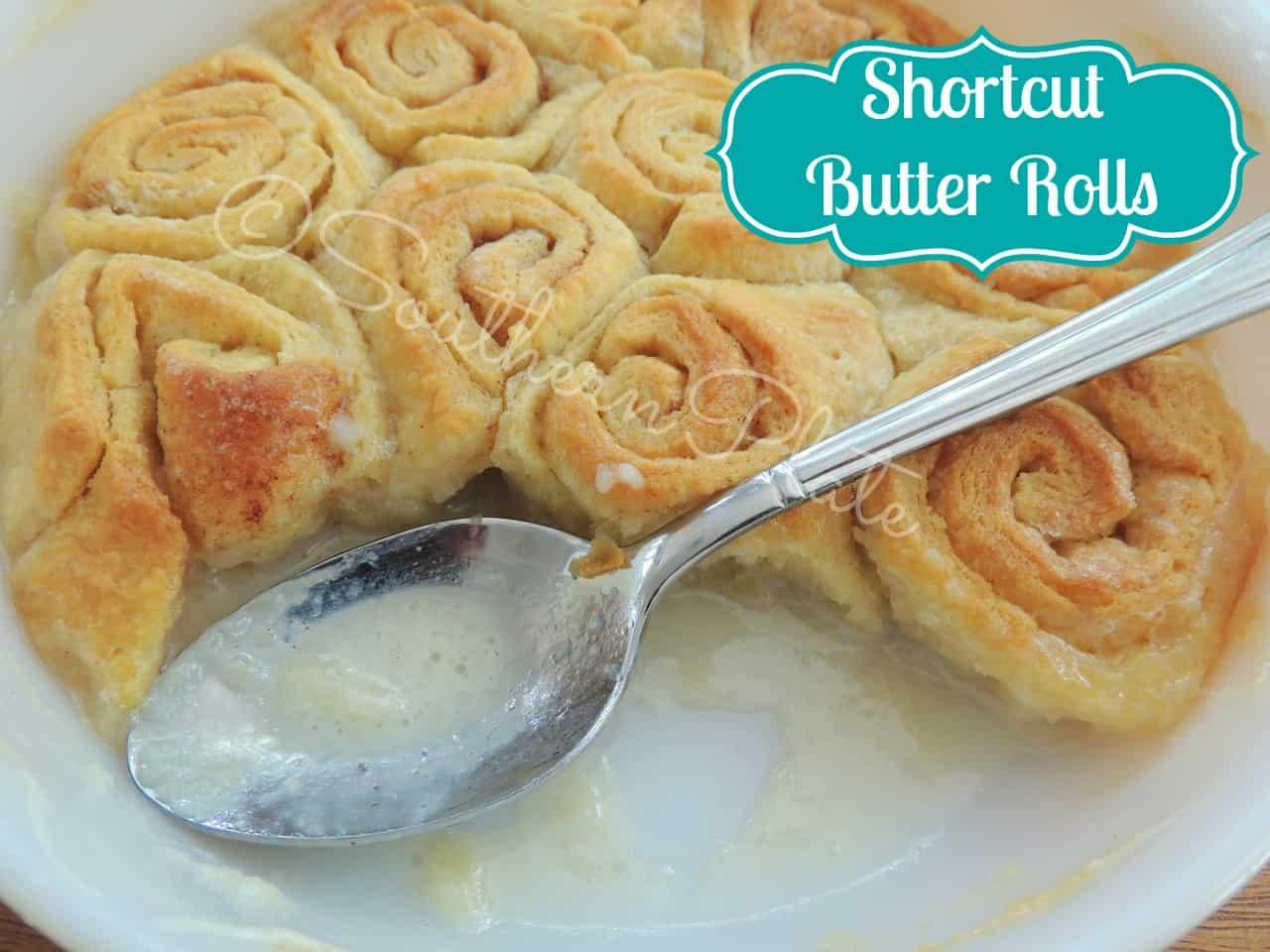 butter rolls in a pan