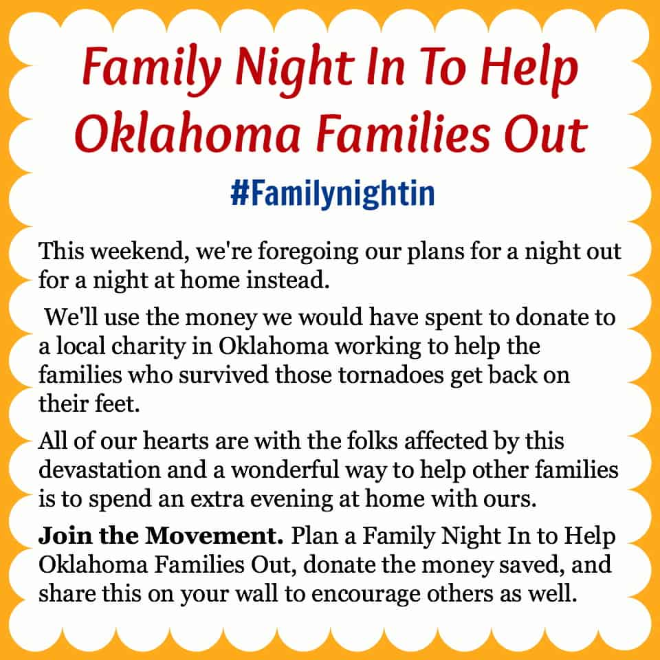 Family Night In to Help Oklahoma Families Out #familynightin