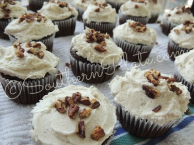 Rolo Cupcakes With Brown Butter Frosting