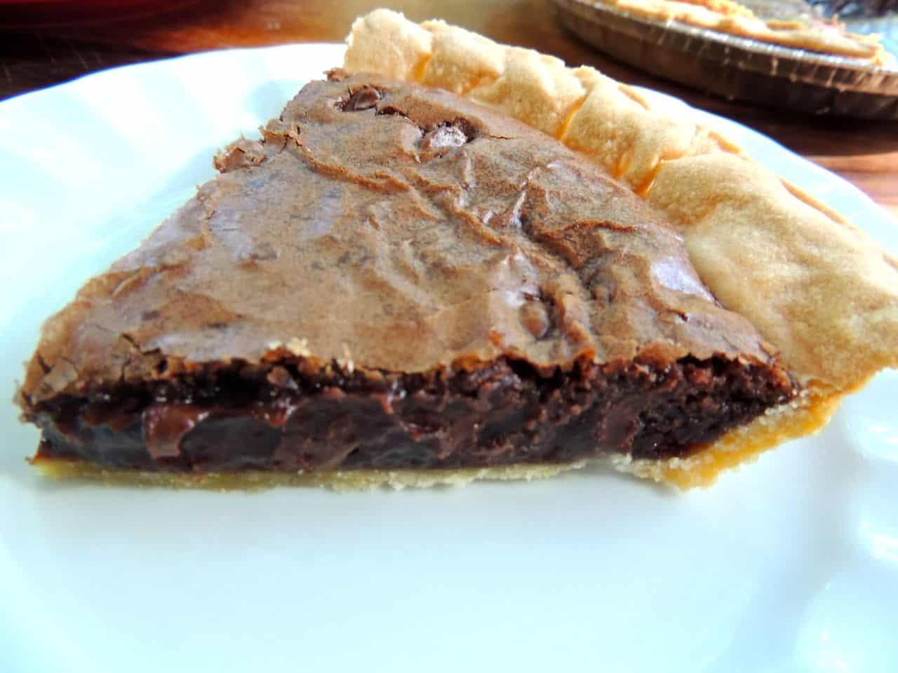 Triple Chocolate Brownie Pie | Southern Plate