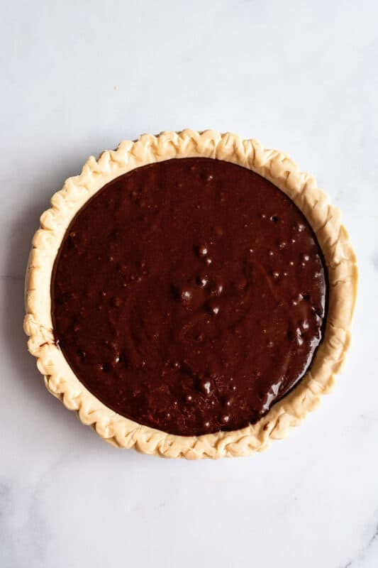 add that into the pie crust