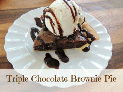 Triple Chocolate Brownie Pie