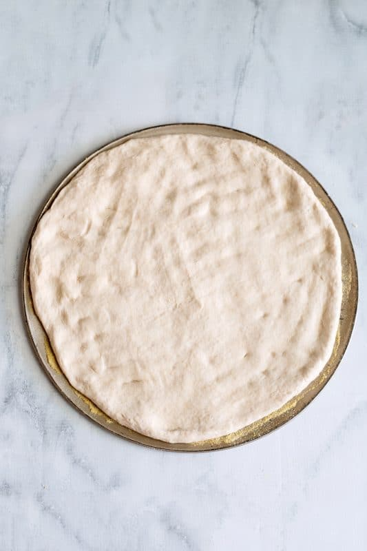 press the dough out flat