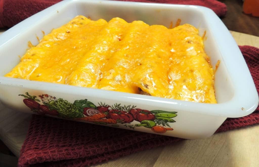 Saddle Up Chicken Enchiladas