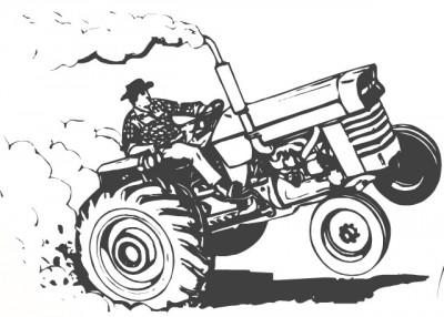 hiding tractor