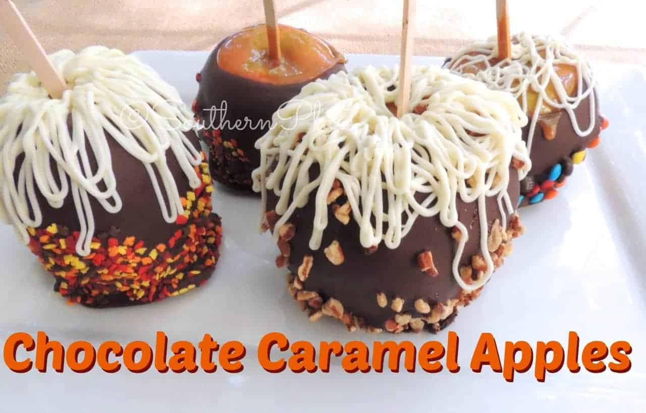 Chocolate Caramel Apples And Determination Cane Step Step Southern Plate