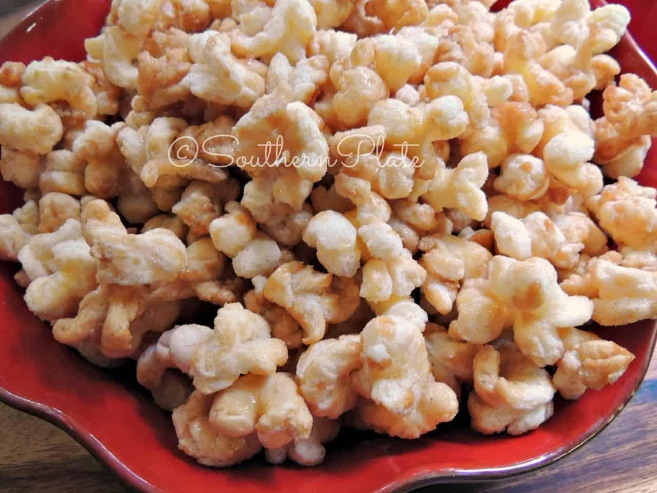Caramel Puff Corn – No Kernels, No Hulls!