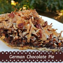 German Chocolate Pie Final