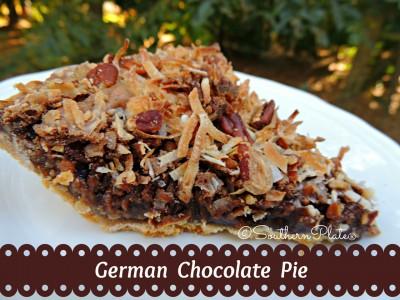 German Chocolate Pie - DELICIOUS!