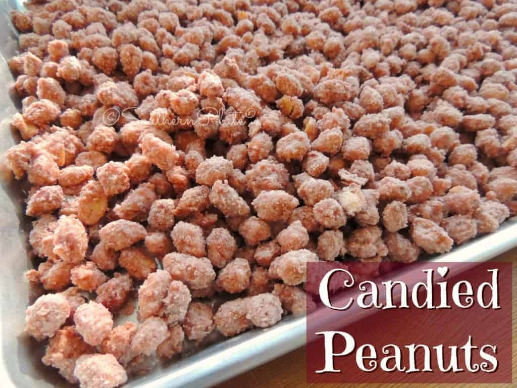 Candied Peanuts: So easy and only 3 ingredients - one of those is water!