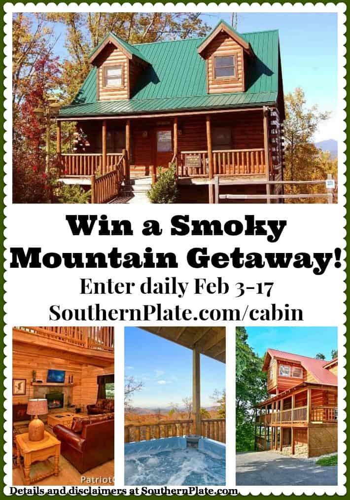 Win a Smoky Mountain Getaway! Enter daily Feb 3-17