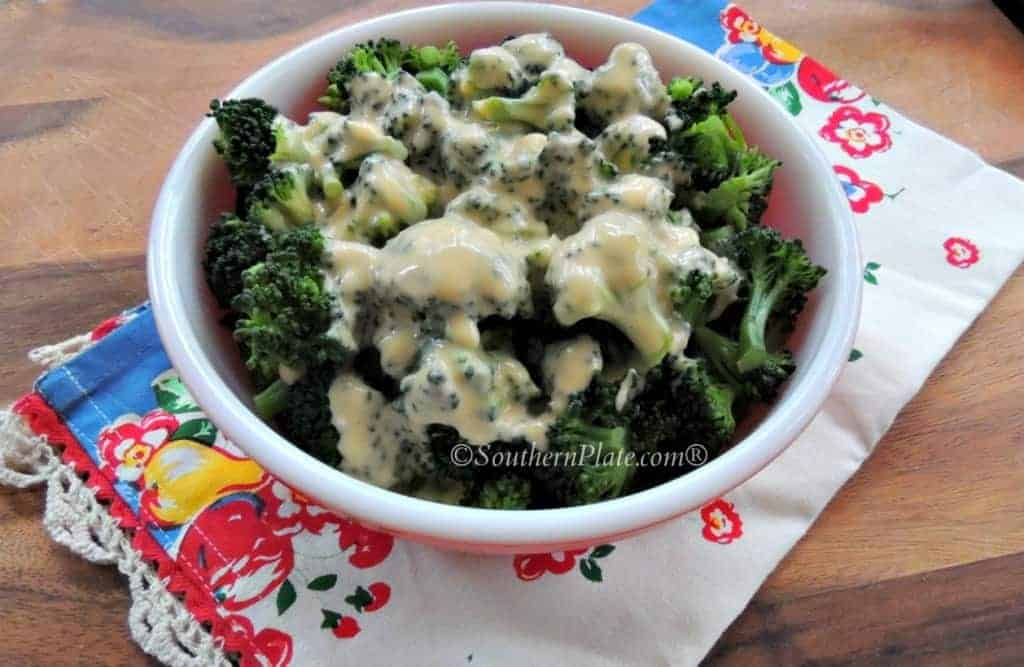 Broccoli with Homemade Cheese Sauce - you won't believe how easy this is to make!