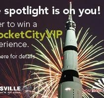 Enter for a chance to be a RocketCityVIP! Three HUGE Vacation packages being given away, even includes airline vouchers! WOW!
