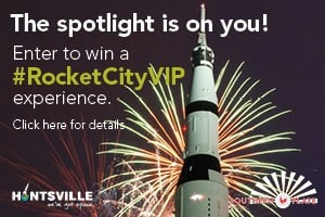 Enter for a chance to be a RocketCityVIP! Three HUGE Vacation packages being given away. Includes airline vouchers, family space camp, complete makeovers, and MORE! WOW!