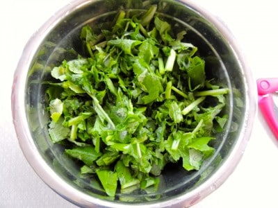 "Quick ""Fried"" Turnip Greens - Garden to table in about 15 minutes!"