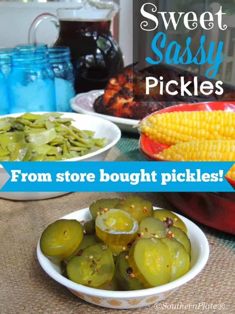sweet sassy pickles – from store bought pickles!
