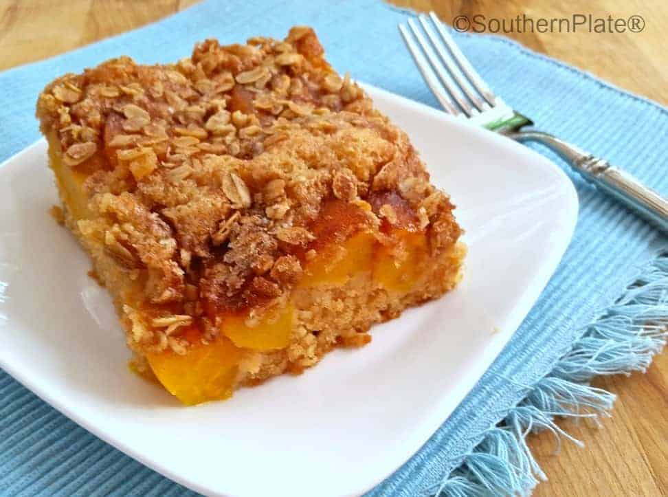Simple Cinnamon Peach Kuchen