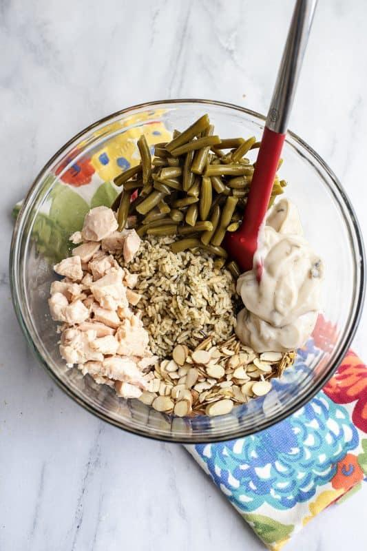 Chicken and Wild Rice Casserole ingredients