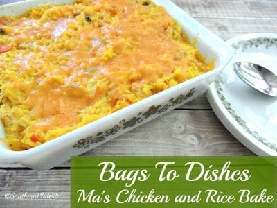 Ma's Chicken and Rice Bake ~Bags To Dishes Meal~ Never have to worry about what is for supper again when you keep these Bags to Dishes meals handy!