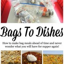bags to dishes