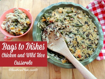 Chicken and Wild Rice Casserole ~Bags To Dishes~ Never wonder what's for supper again with Bags to Dishes meals! Great for busy families, power outages, camping, or just when you need to make life a little easier :)
