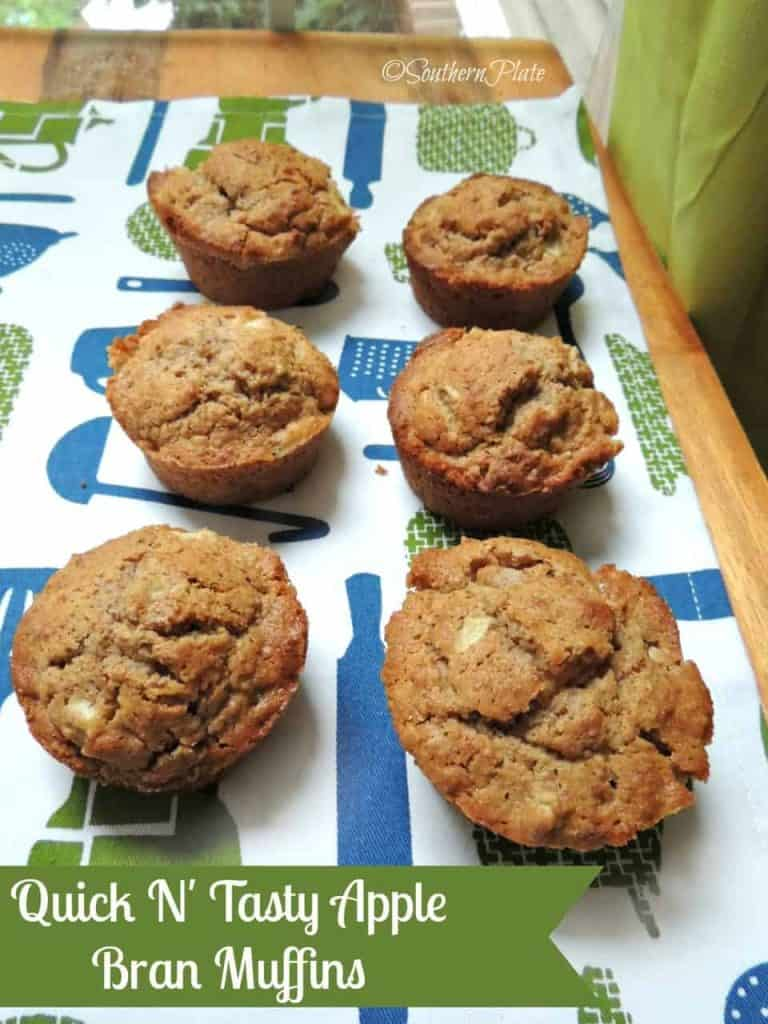 Quick 'N Tasty Apple Bran Muffins