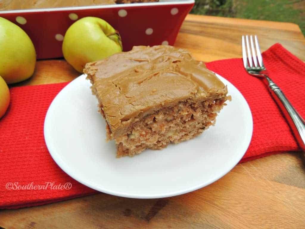 Mama Reed S Caramel Apple Cake Southern Plate